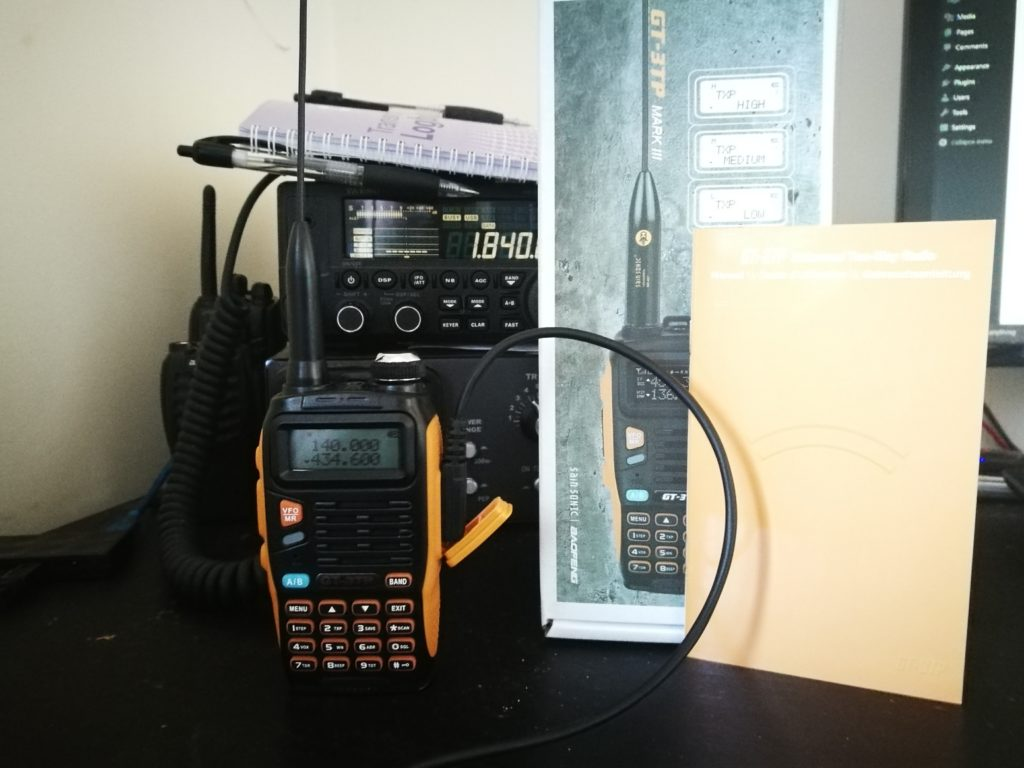 Programming the Baofeng GT-3TP with CHIRP – 2E0SIF